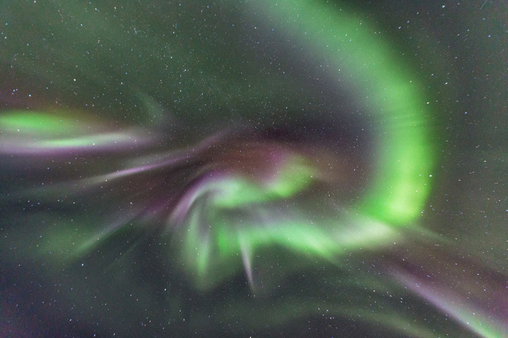 colourful Northern lights in Iceland corona